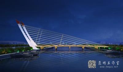桥梁夜景效果图