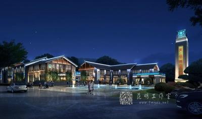 建筑景区照明灯光设计