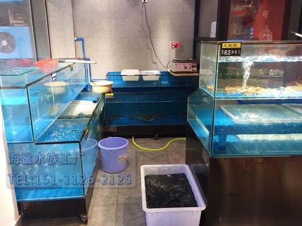 海鲨水族工厂湖南专业海鲜池厂家