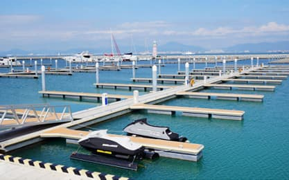 marina, floating dock, pontoon