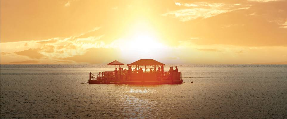 A floating bar has popped up at Barasti Beach
