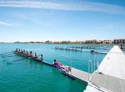 Rowing wharf