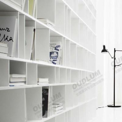 客厅书房装饰多功能书柜 白橡木色