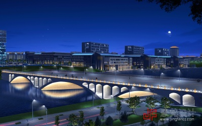 桥梁照明设计夜景效果图
