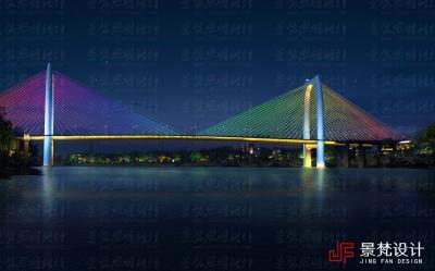两城大桥夜景设计效果