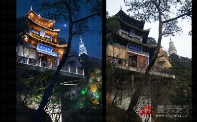 古建筑照明设计夜景效果图制作