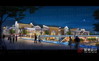商业街夜景照明设计