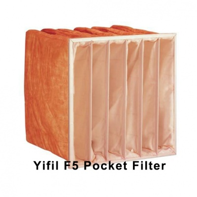 Pocket filter clean room fresh air ventilation system prefilter medium efficiency filter