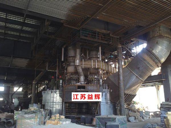 铁合金矿热炉安装现场
