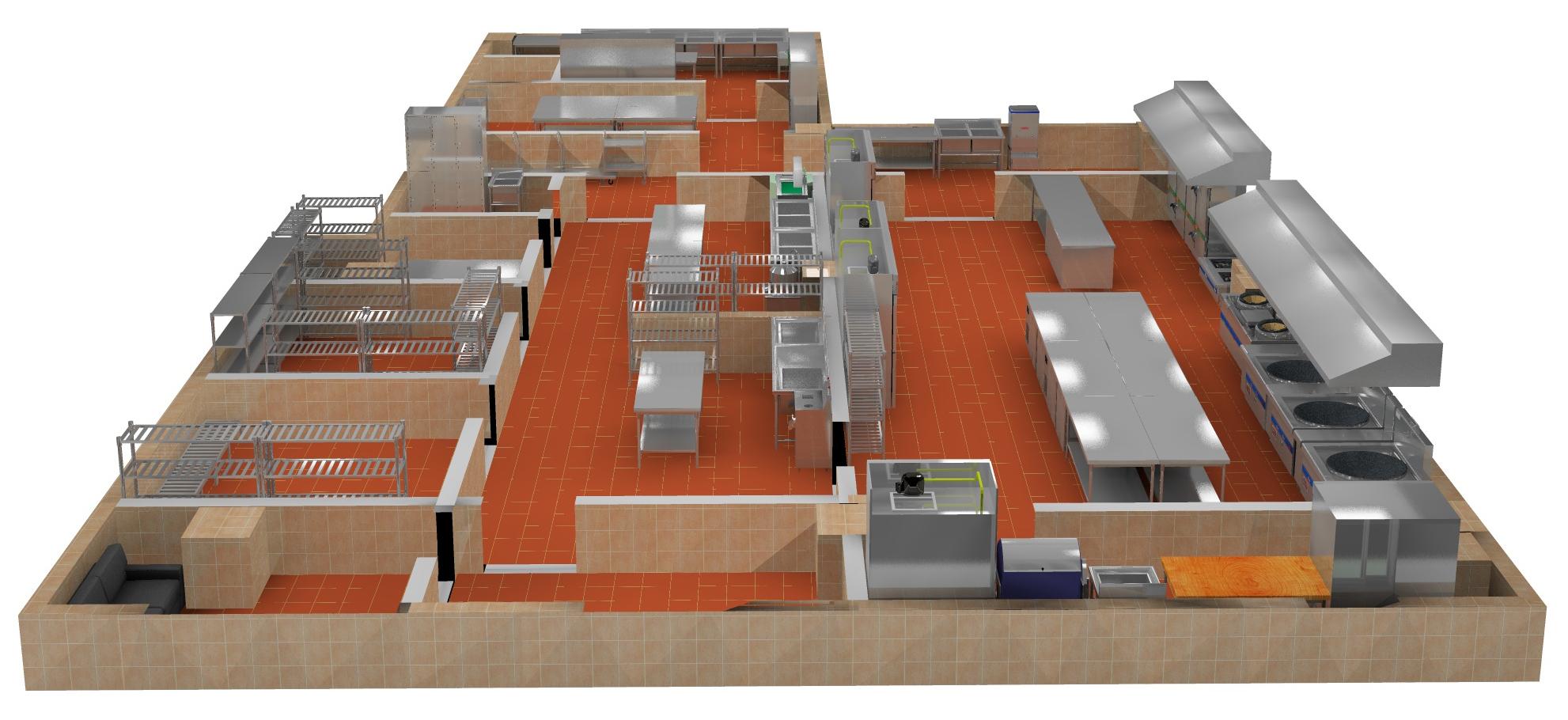 成都商用厨房设计那家好,看看设计方案就知道!