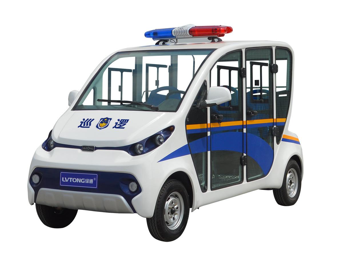 四人座封闭式电动巡逻车