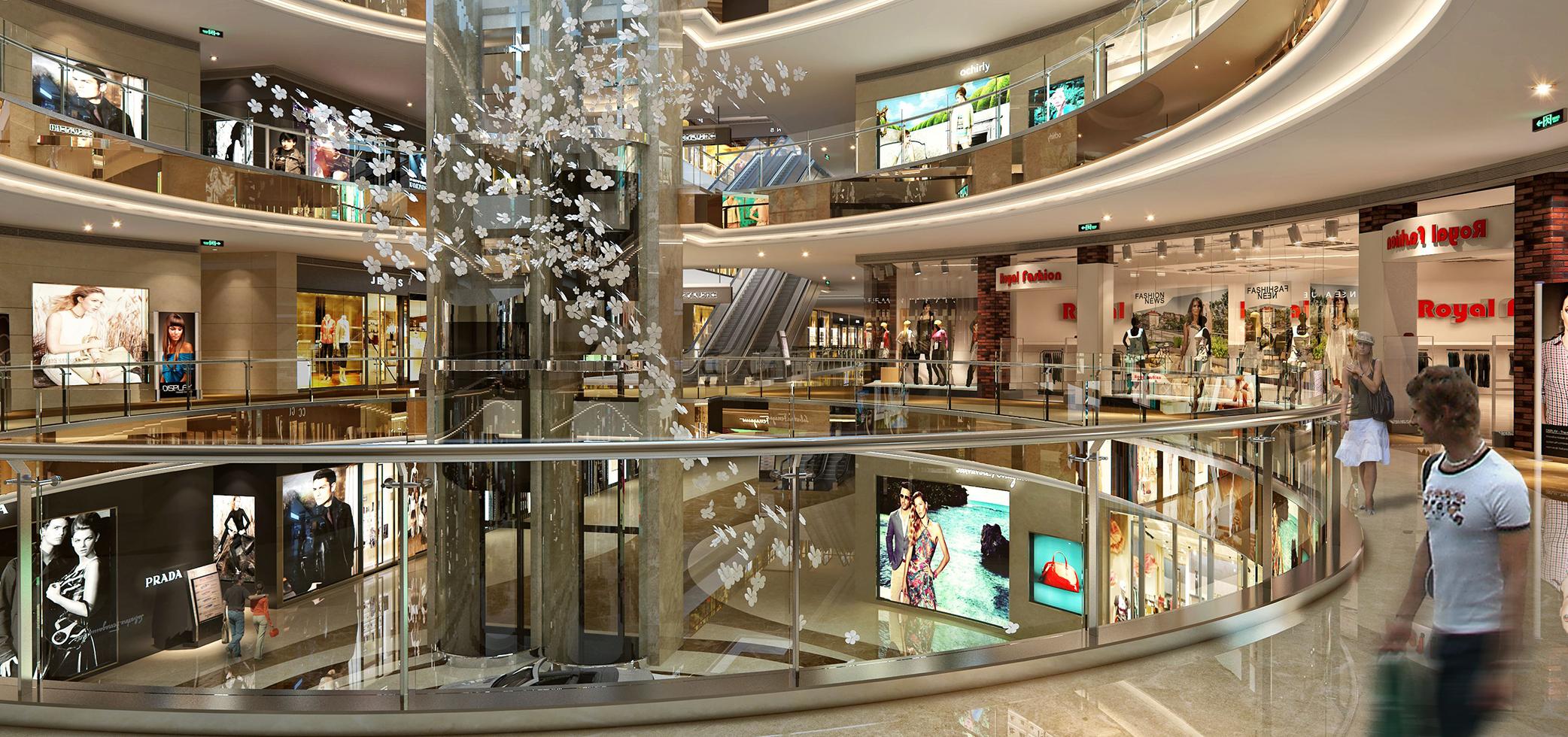 Mall guardrail