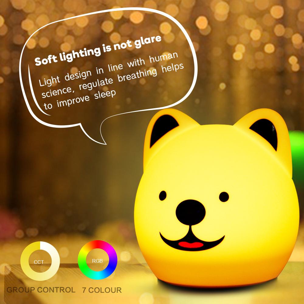 创意遥控款 新奇特礼品儿童硅胶拍拍灯萌狗灯促销礼品定制小夜灯