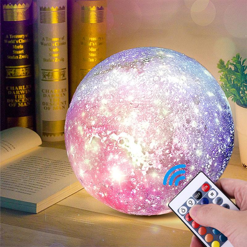 亚马逊爆款月球灯 15CM拍拍灯儿童创意礼品台灯3D打印led小夜灯