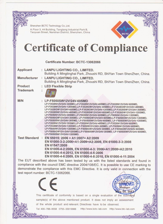 LED Strip light CE-EMC