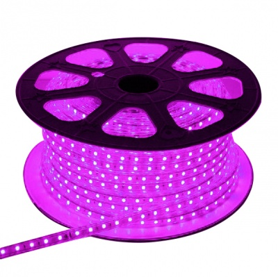 120V Waterproof Rope Lights, 60LEDs, Indoor/Outdoor,Accessories Included, 18ft/65Ft/165Ft Purple