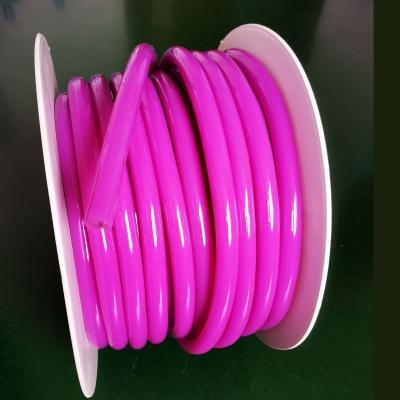 16mm purple 360 Degree Round LED Neon Strip Flexible Light 120Leds/M