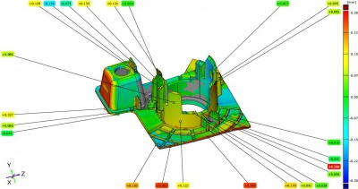 汽车配件小件GOM蓝光软件系统检测扫描