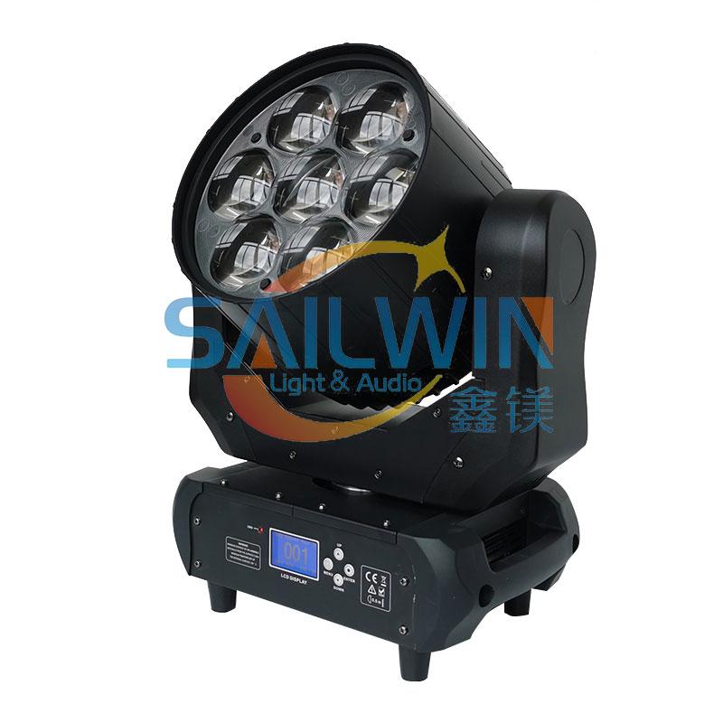 7 focusing head lights