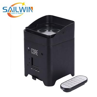 4*18W 6IN1 RGBAW UV Battery Powered APP Mobile LED Par Light