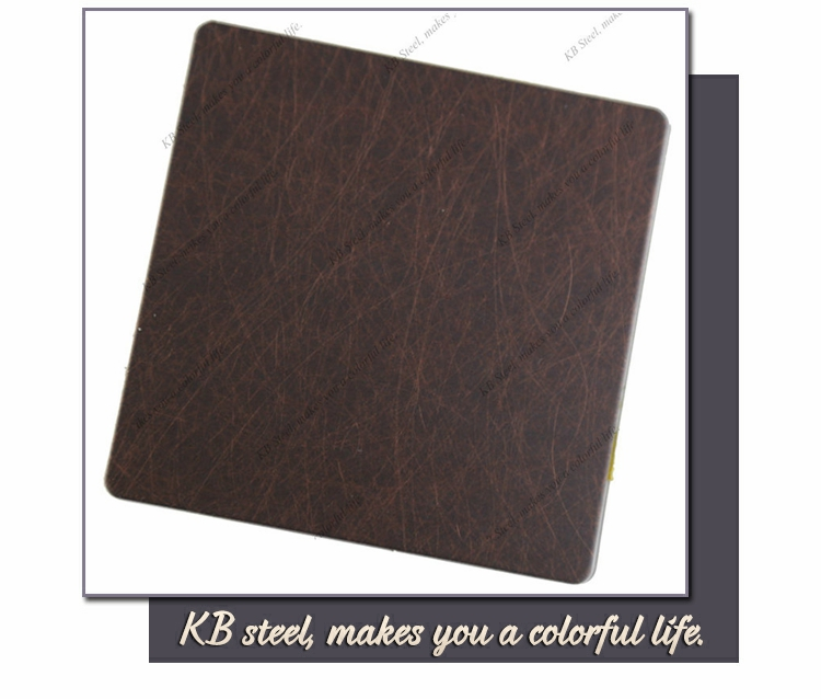 304 coffee color Vibration stainless steel sheet