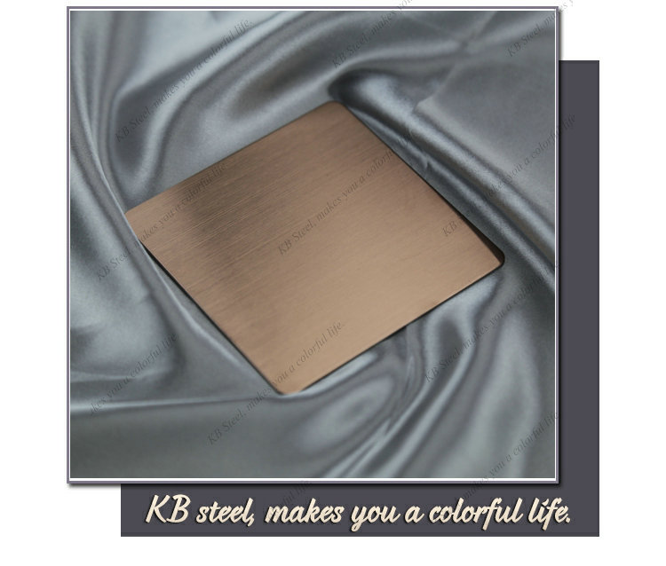 color Brush finish 316 stainless steel sheet metal