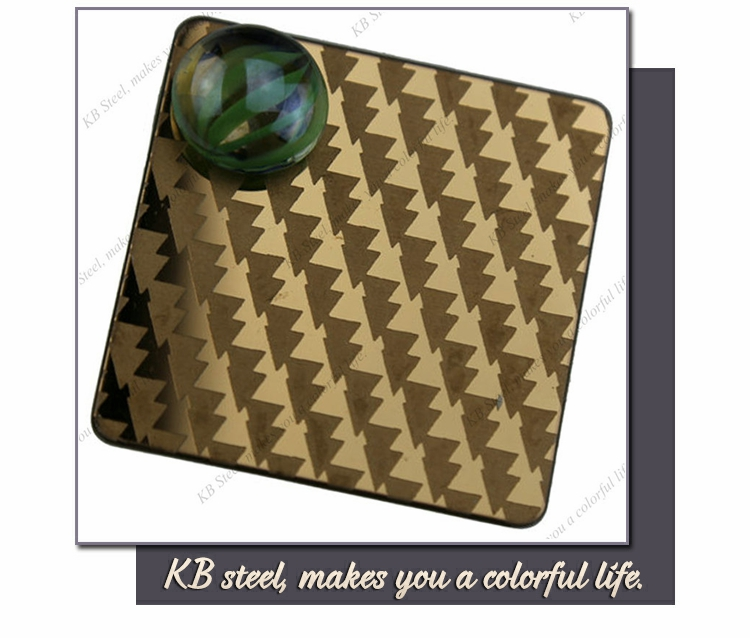 PVD color etched finish stainless steel sheet