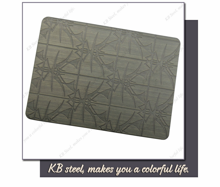 Etched 1.2mm gold stainless steel sheet price