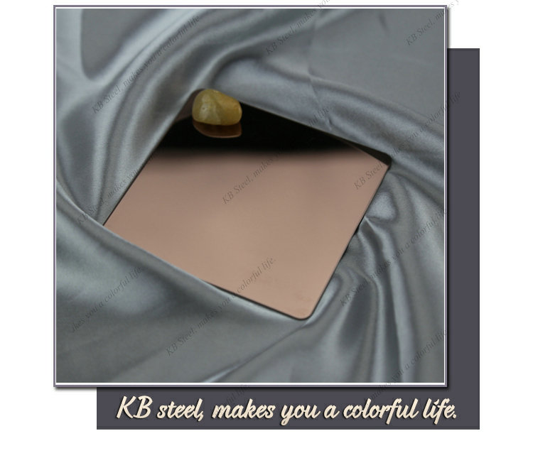 304 Rose Golden Color Mirror stainless steel sheet price