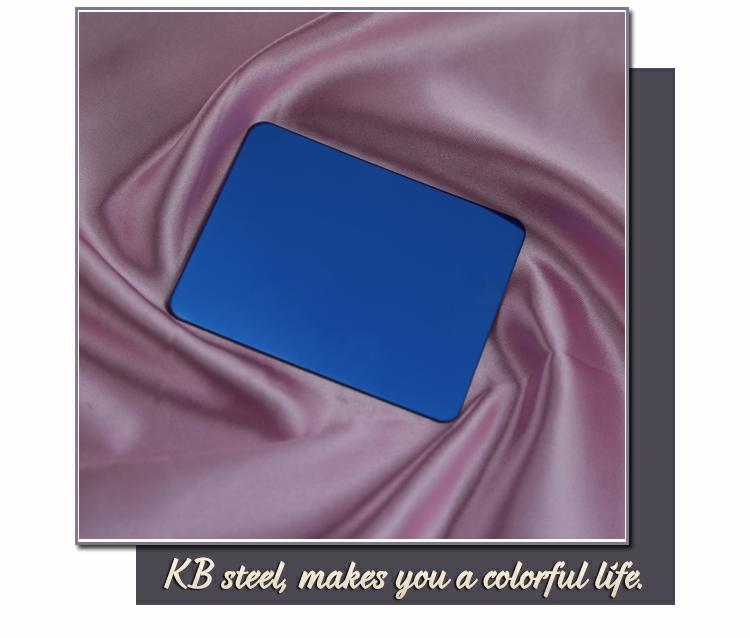 304 Mazarine Blue colour mirror stainless steel sheet