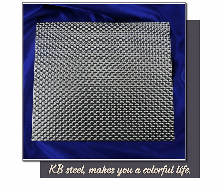 China 400 series embossing stainless steel plate