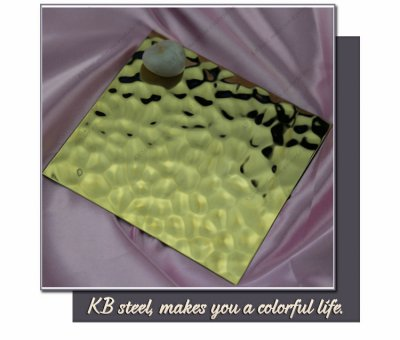 304 golden color embossing finish stainless steel sheets