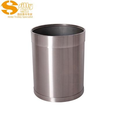 砂光活动圈不锈钢圆形客房桶
