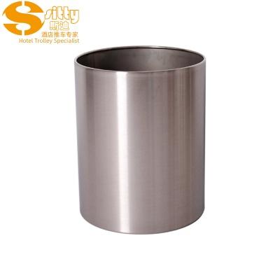砂光不锈钢圆形客房桶