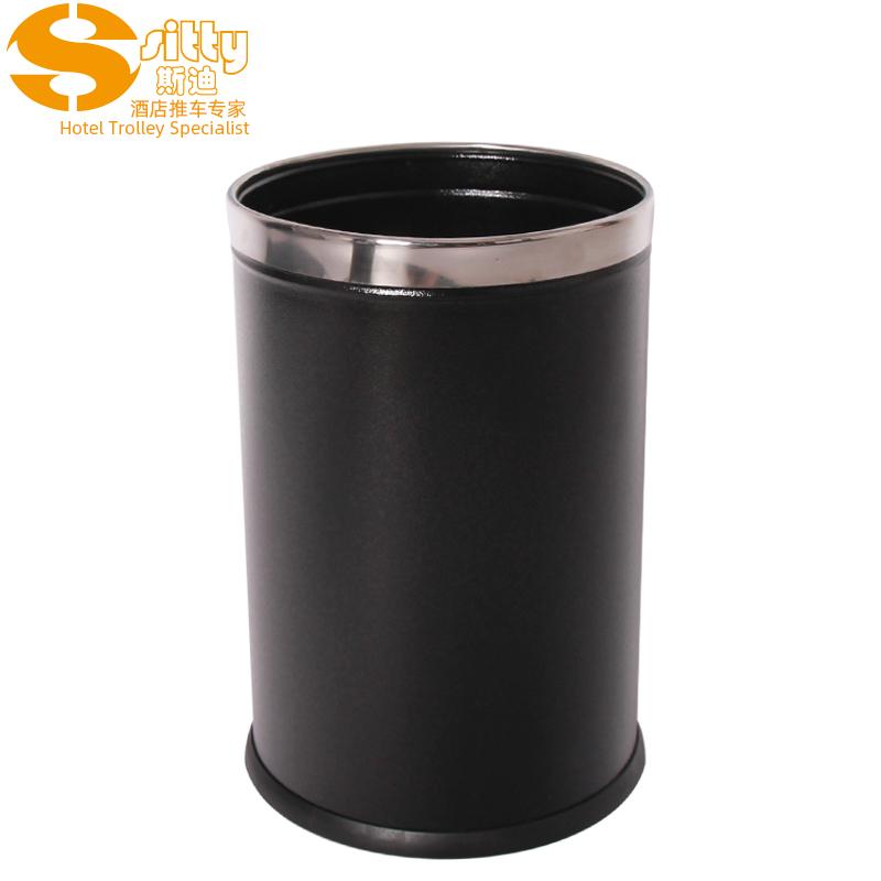 0200B黑色带凸筋不锈钢活动圈圆形桶