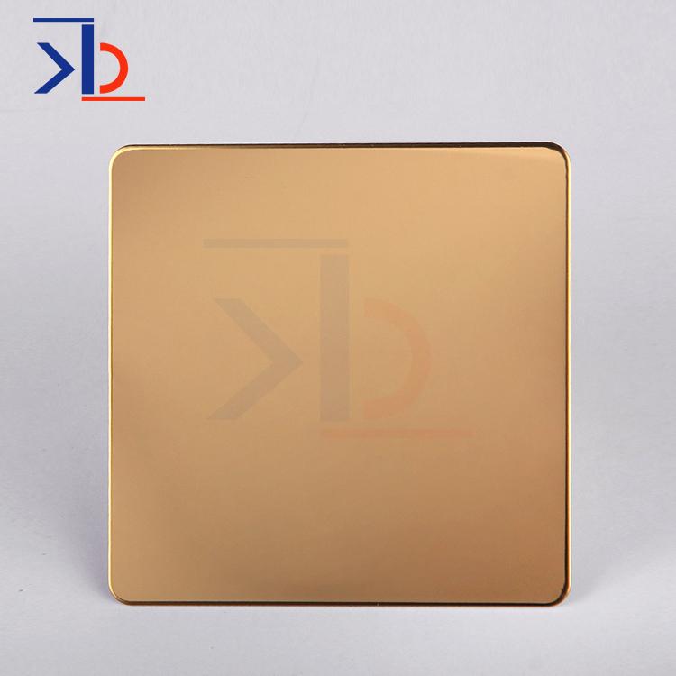 Titanium Gold Mirror Polishing Stainless Steel Sheet
