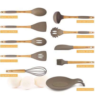 Wholesale silicone material silicone kitchen utensil usage for cooking tools