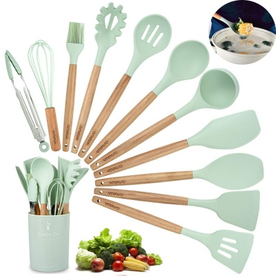 OEM Service Silicone and Stainless steel kitchen cooking utensil set