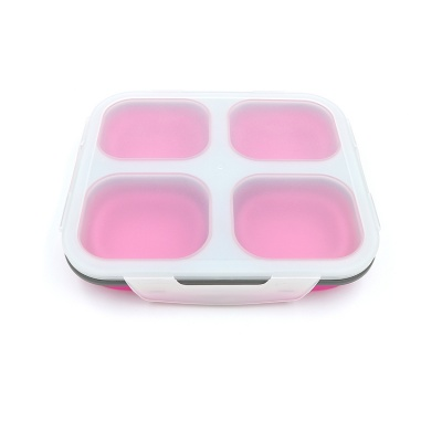 Wholesale high quality korean style foldable lunch box