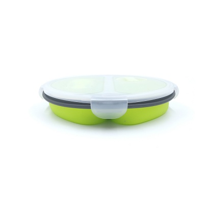China Outdoor collapsible silicone lunch box folding lunch box