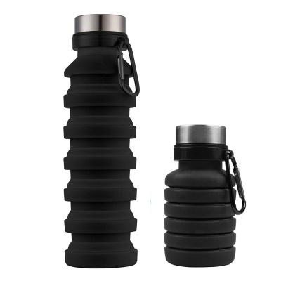 amazon hot selling collapsible silicone sport travel water bottle
