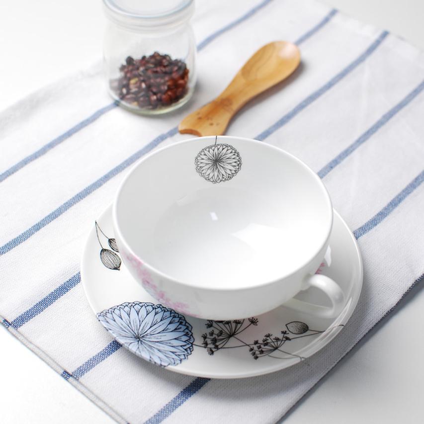 春系列-百川咖啡杯连碟