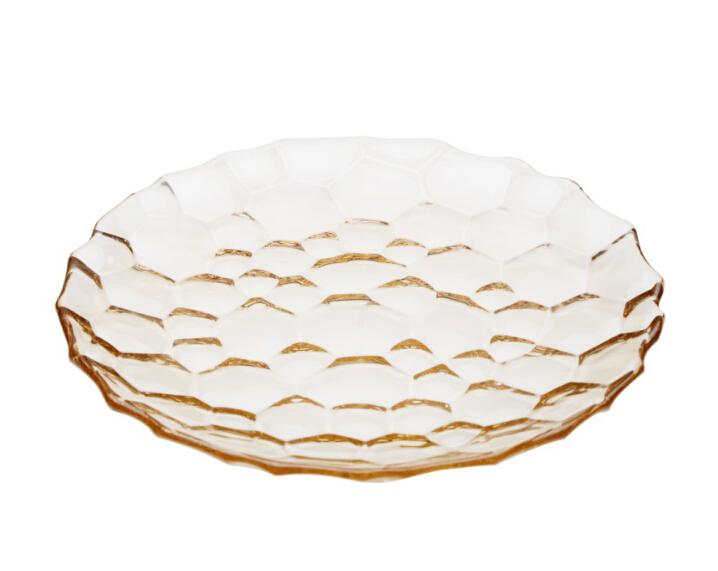 美仑玻璃盘-琥珀色