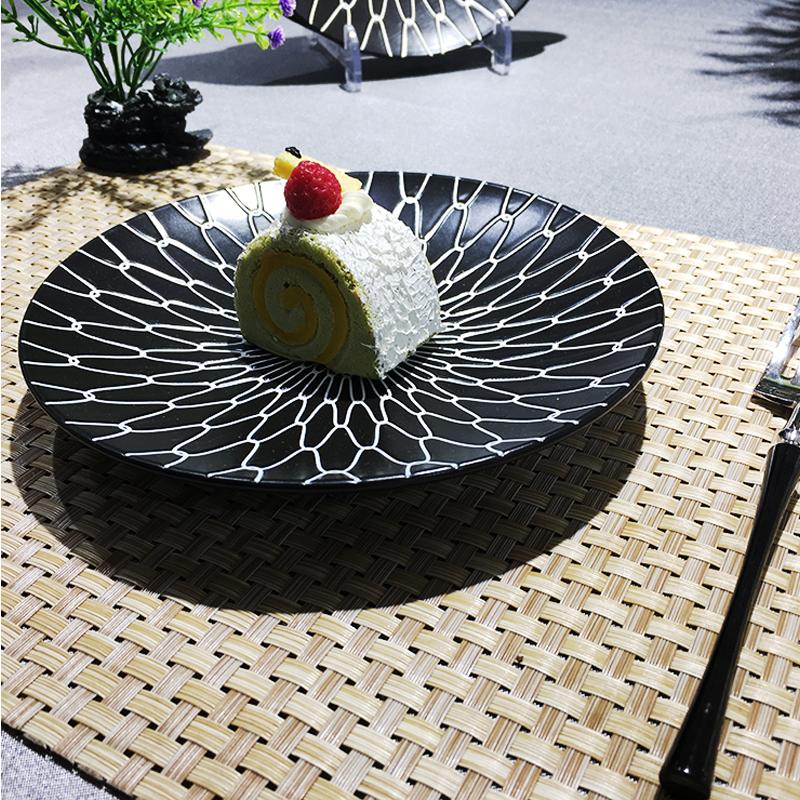 半光黑网格系列-台面餐具