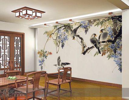 武汉墙绘关于国画题材技法探微
