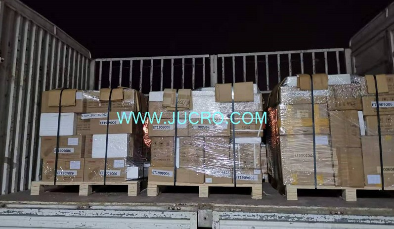 We have just shipped 3 pallets and 8 cases products to our Ukraine client.