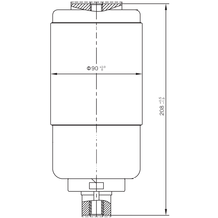 Vacuum Interrupter TD-12KV 1250A 31.5E2 (JUC2368) from JUCRO Electric