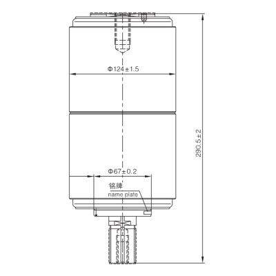 Vacuum Interrupter TD-36KV 1600A 31.5KA (JUC2455) from JUCRO Electric