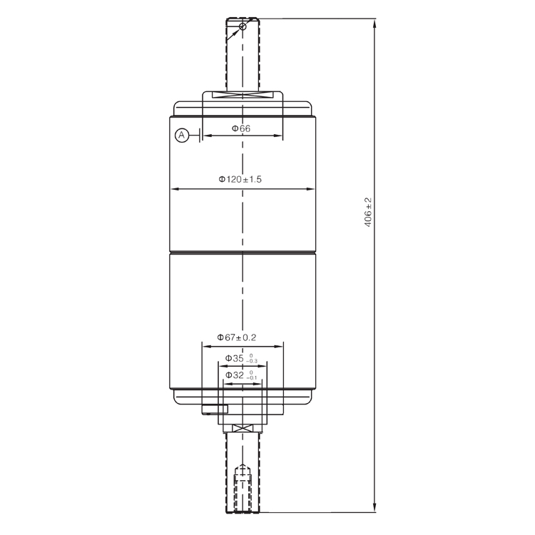 Vacuum Interrupter 40.5KV 1250A 25A (JUC2195) from JUCRO Electric