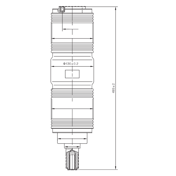 Vacuum Interrupter TD-40.5KV 2500A 31.5BD (JUC2406) from JUCRO Electric